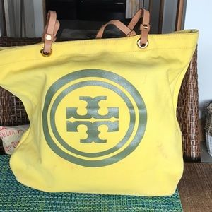 Tory Burch yellow tote